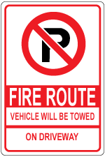 fire-route-vehicles-will-be-towed-on-driveway-sign